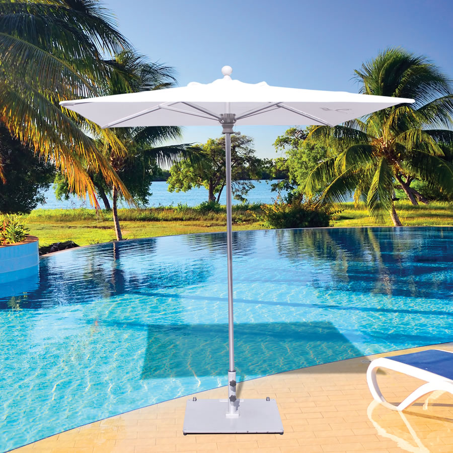 X Deluxe Commercial Use Square Galtech International - Commercial table umbrellas