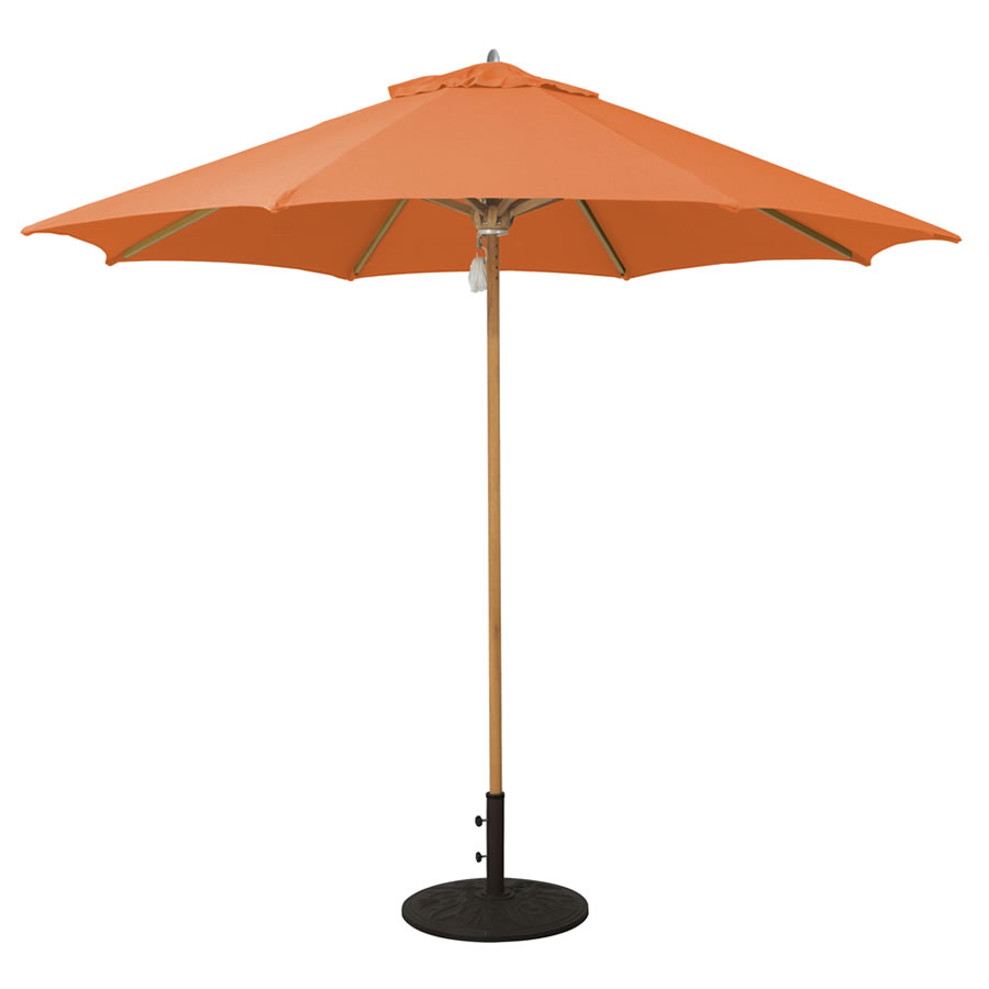 532tk 9' designer teak galtech international market umbrellas and ... - Designer Patio Umbrellas