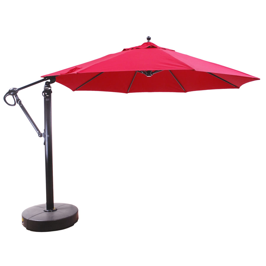 887 11\' Cantilever Galtech International Market Umbrellas and Stands